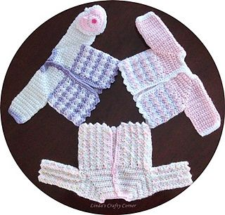 A sweet little preemie jacket that's quick and very easy to make.
