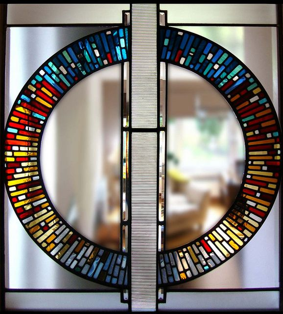 contemporary circular stained glass modern glasgow by stephen-weir, via Flickr