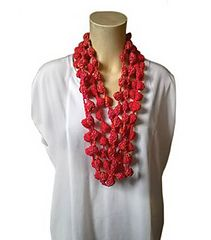 Coral Necklace - free crochet pattern in English and Italian by Giuliano Marelli.