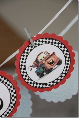 cars party banner diy