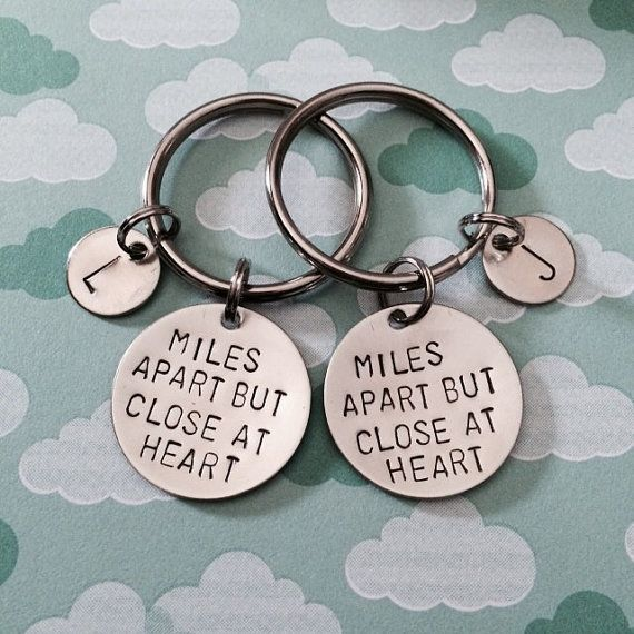 Miles Apart But Close At Heart Keychain Necklace by dalilicequeen