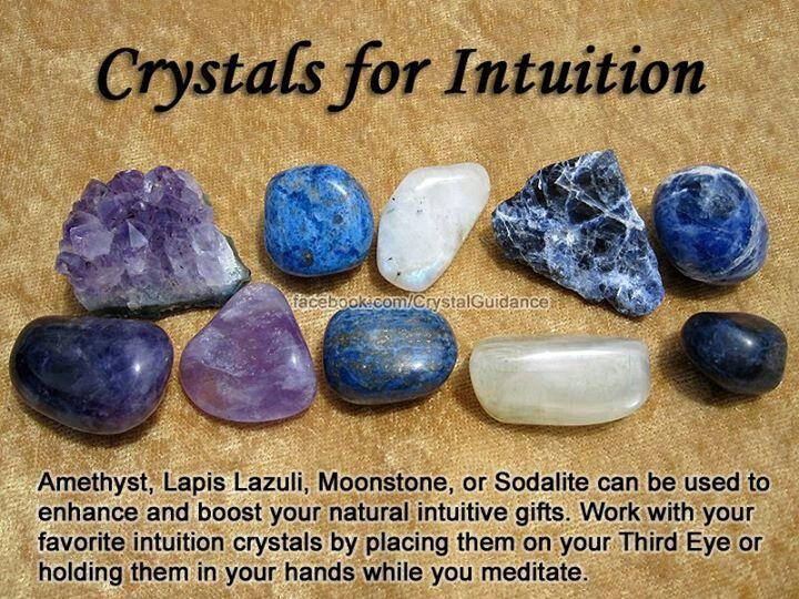 Intuition: amethyst, lapis lazuli, moonstone, sodalite
