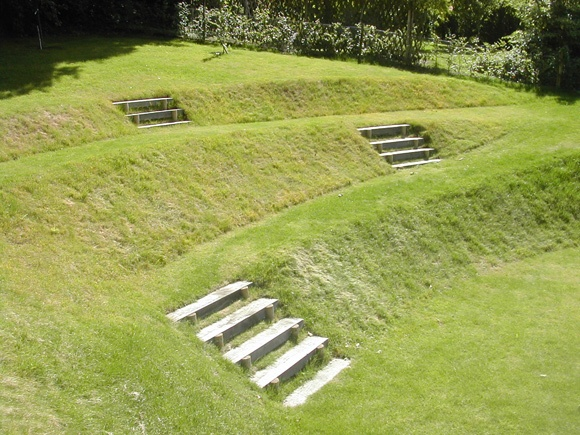 A steeply sloping site provided a great opportunity to for Garden design ideas sloping site