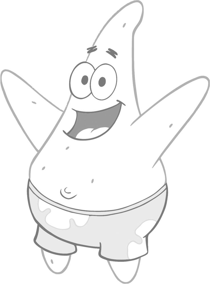 patrick star coloring page | Star coloring pages, Coloring ...