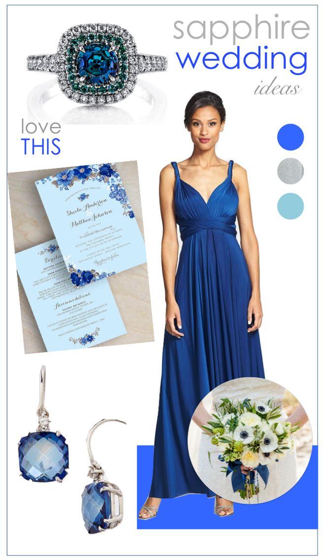 Sapphire wedding ideas!