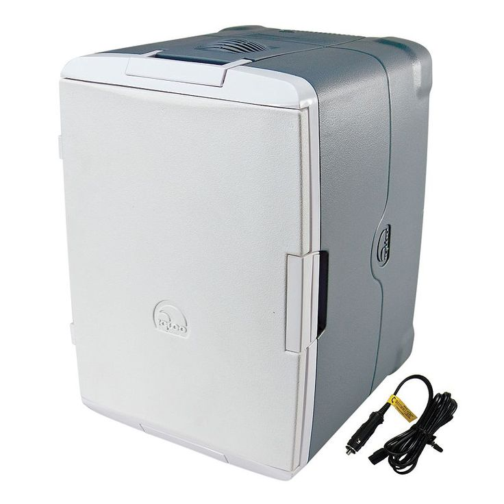 Igloo 40-Quart Iceless Cooler with Converter, Silver