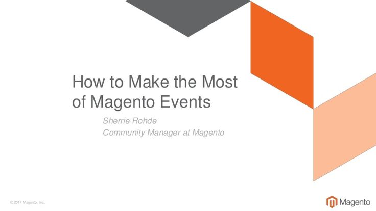 By the end of this event, you'll be plotting out the next opportunity to gather insights with this amazing Magento community. In this short talk, I'll share wi…