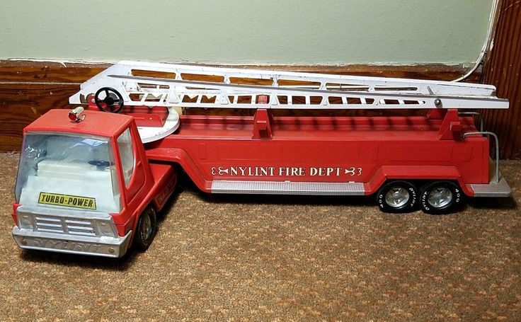"""VINTAGE NYLINT FIRE ENGINE & LADDER N.F.D #6 TURBO POWER RARE and 29"""" 400 tires    In decent condition for its age    Has some scrapes and wear    Missing ladder extension piece    Please inspect photos for more information     Thanks and be sure to check out all our other collectibles for sale   eBay!"""