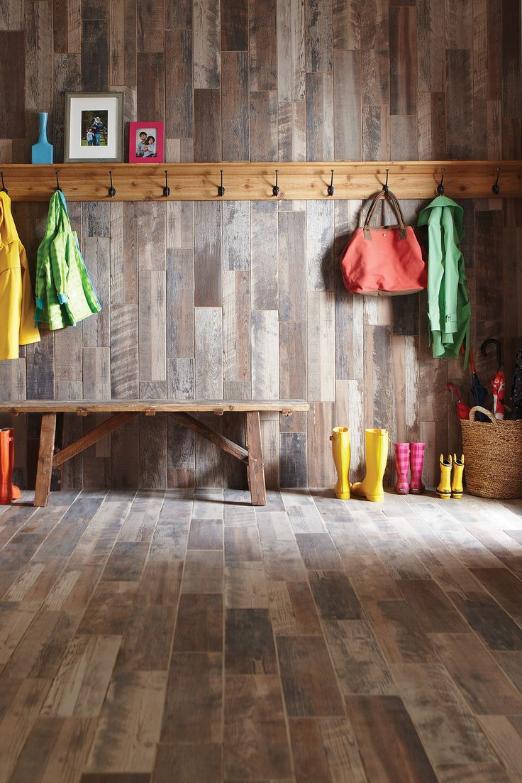 The texture and detail of this reclaimed wood-look tile is simply amazing.  This - 352 Best Flooring, Carpet & Rugs Images On Pinterest