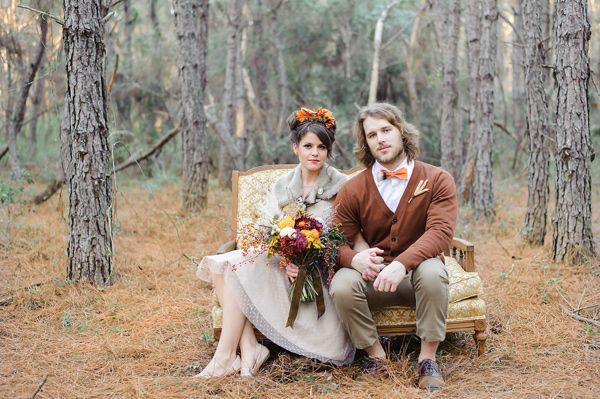 Ruffled - photo by Sarah and Ben Photography http://ruffledblog.com/fantastic-mr-fox-wedding-inspiration