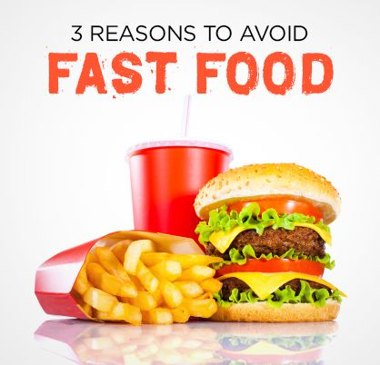 3 GREEN reasons to avoid fast food