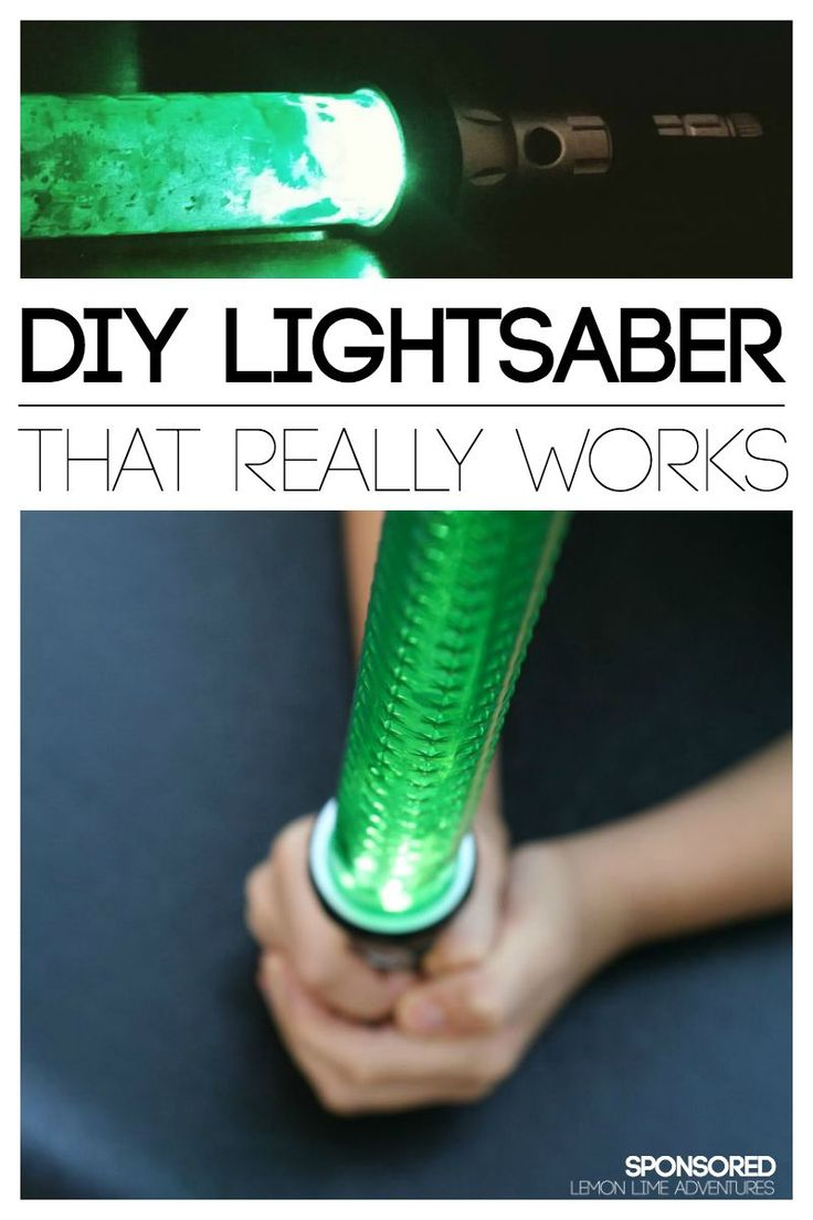 DIY Lightsaber that Really Works for Kids