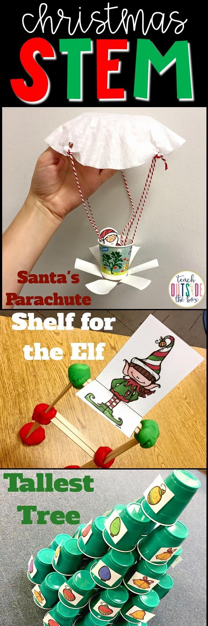 Three low prep Christmas STEM challenges for elementary engineers | STEM Activities | December STEM | Holiday STEM