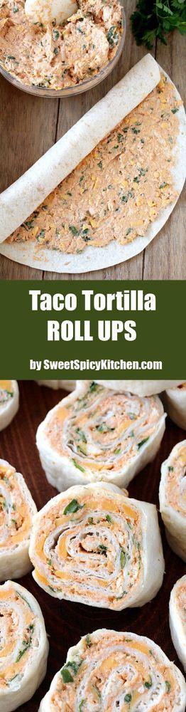 Taco Tortilla Roll Ups schnelle und einfache Vorspeise mit Frischkäse, …   – Easy Appetizer Recipes