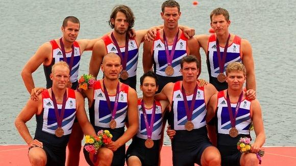 The bronze-medal-winning British men's rowing eight