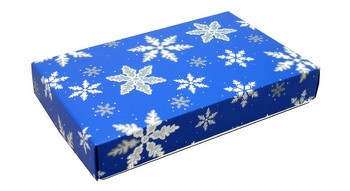 Snowflakes candy box 1/2 pound 2 Piece candy box: Pieces Candy, Snowflakes Candy, Christmas Candy, Boxes 1 2, Candy Boxes, Cookies Boxes