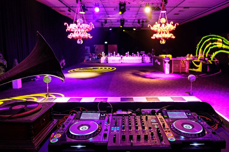 The view from the DJ decks of our Alice in Wonderland themed party. Photo by Jon Jarvela