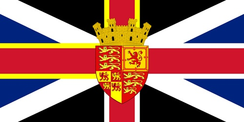 United Republic of Britain    Brisith Republican Flag - Merging the flags of England, Scotland and Wales (St' David's Flag).