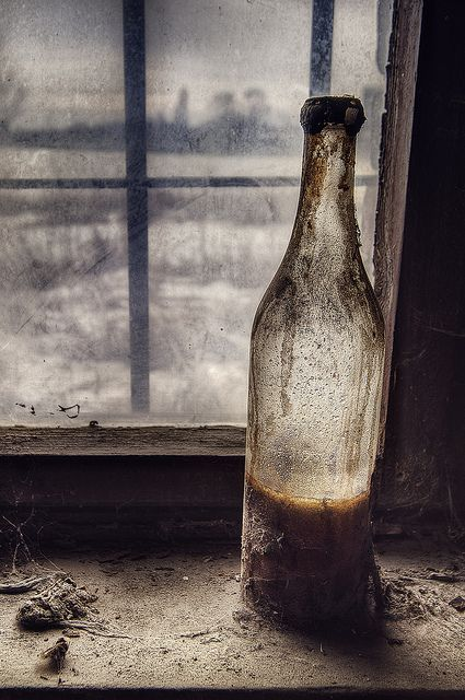 bottle on the windowsill