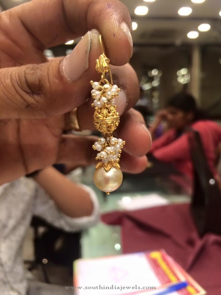 7 Grams Gold Hook Earrings, 7 Grams Gold Earrings Designs, Gold Hook Earrings Designs.
