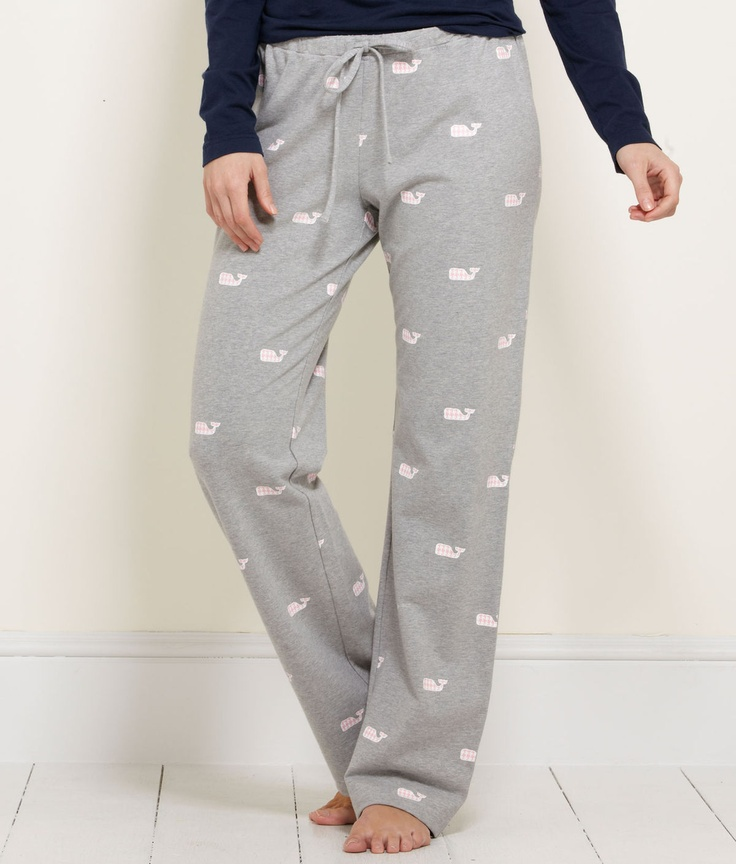 Houndstooth Whale Lazy Pants - vineyard vines!