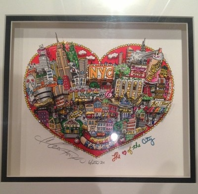 the heart of the city new york 3d pop art serigraph by charles fazzino looks great in our. Black Bedroom Furniture Sets. Home Design Ideas