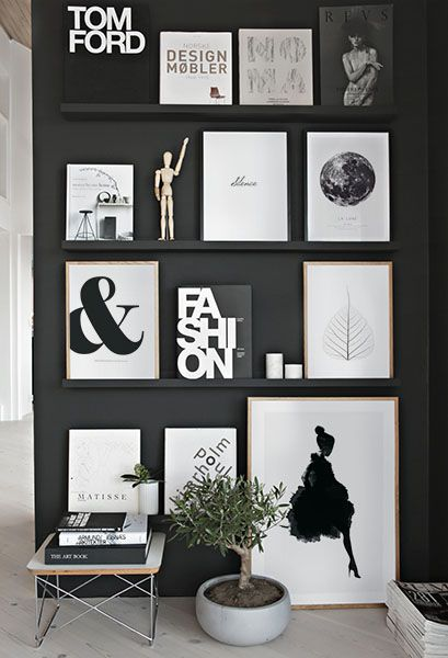Come get inspired by these modern black and white interior design inspirations at http://essentialhome.eu/