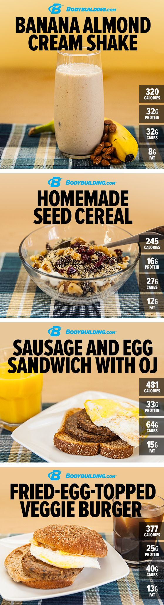 7 Protein-Rich Vegetarian Breakfasts. Here's your guide, in the form of a week's worth of well-rounded vegetarian breakfasts! #Recipes