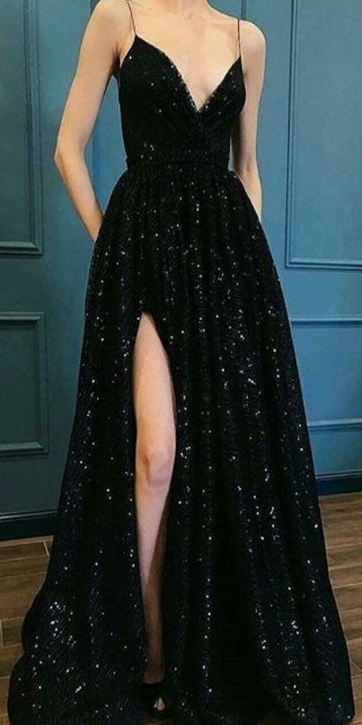 V-neck Black Sequin Long Prom Dresses ,Cheap Prom Dresses,PDY0441 V-neck Black Sequin Long Prom Dresses ,Cheap Prom Dresses,PDY0441 – Béatrice Hawley