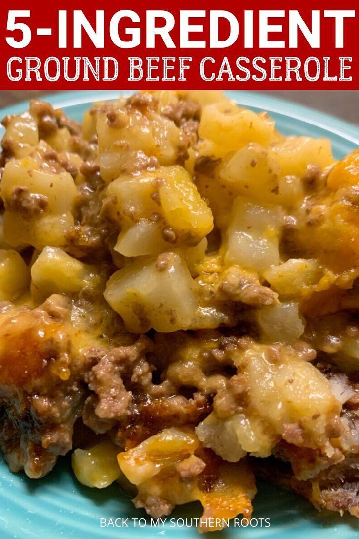 5 Ingredient Ground Beef Casserole Recipe In 2020 Beef Casserole Recipes Ground Beef Recipes For Dinner Beef Dinner