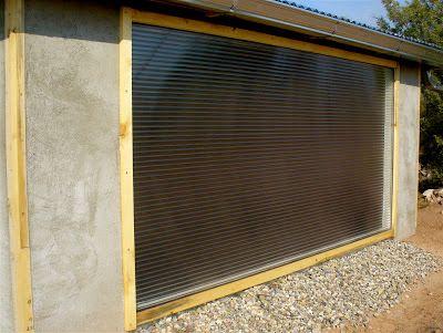 Alt. Build Blog: Building A Well House #9: Trombe Wall Solar Collector