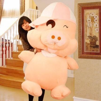 Горячая Продажа Midealtex Mcdull 60см Большая Свинья Чучела Животных Плюшевые Игрушки Милые Куклы Lovers