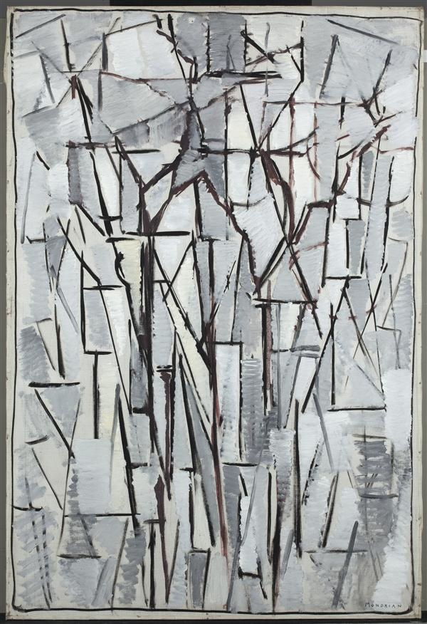 Piet Mondriaan, compositie Bomen 2,  1912-1913  hoogte 135,0 cm breedte 103,6 cm  olieverf op doek