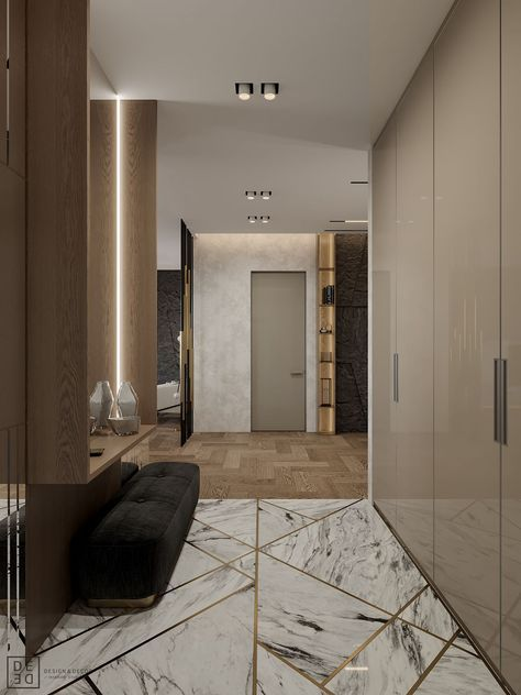 De de interior with sophisticated nature on behance for Aterrizaje del corredor de entrada deco