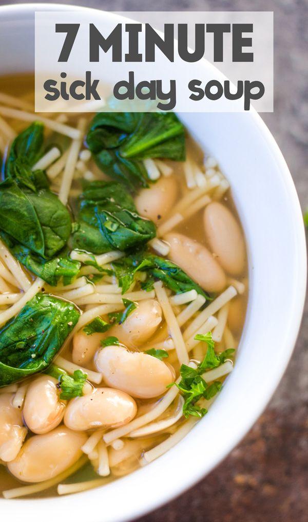 7 Minute Sick Day Soup Recipe Vegan Soup Recipes Easy Soup Recipes Easy Soups