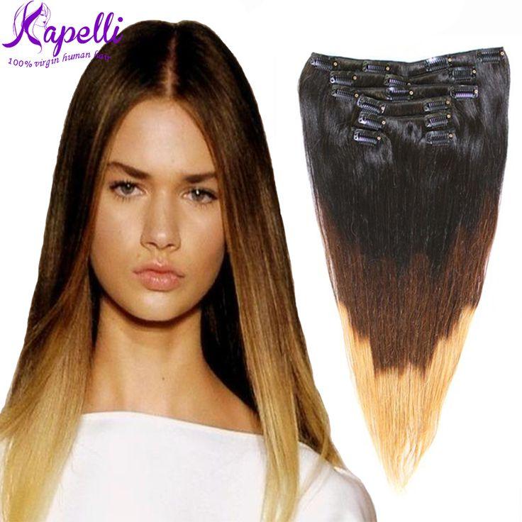 hair extension clips hair clip ins clip in hair extensions virgin hair ...