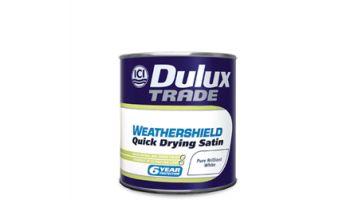 Ριπολίνη νερού Weathershield Quick Drying Satin Dulux Την αγαπούν για το υπέροχο φινίρισμα της, σατινέ φινίρισμα σε απόχρωση γκρι - μπλε Denim Drift, ο απόλυτος συνδυασμός.