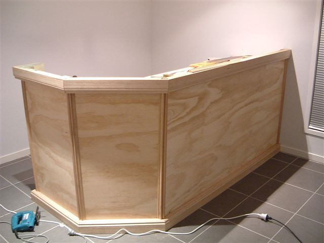 How To Build A Home Bar   Guest Service Counter In Foyer?