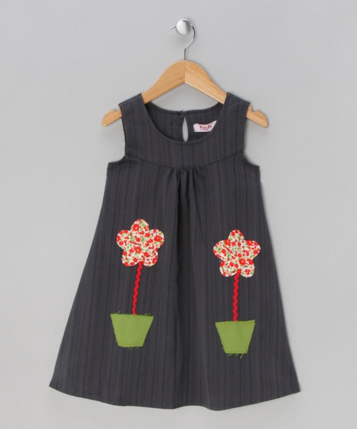 Blue Flower Pot Dress - Infant, Toddler & Girls | Daily deals for mums, babies and kids