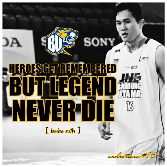"""Heroes Get Remembered But Legend Never Die [ Babe Ruth ]  Andre """"The Chief"""" Tiara"""