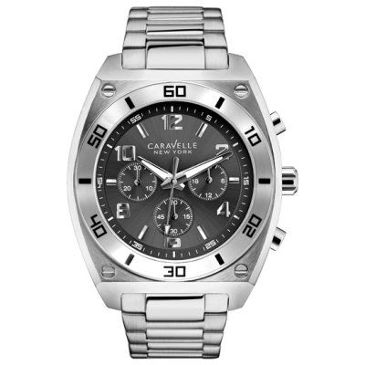 Caravelle New York - Men\'s Clark Silver Chronograph Watch - 43A120 - RRP: £109.00 - Online Price: £92.00