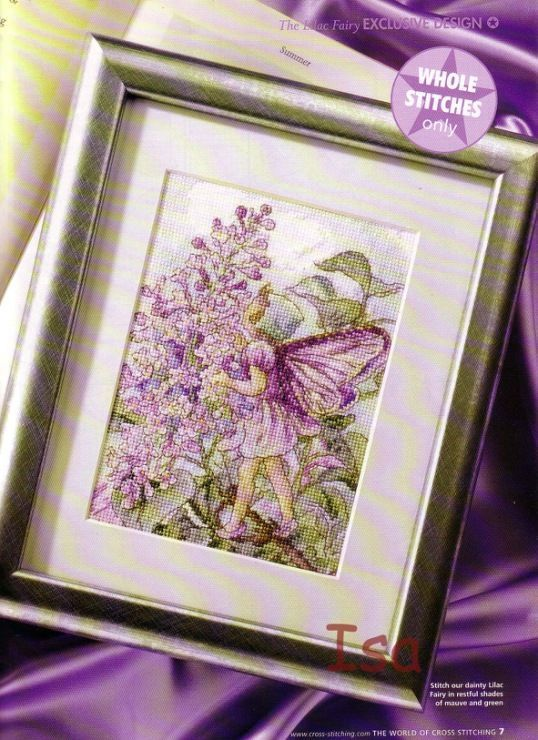 Flower Fairies Lilac Fairy The World of Cross Stitching  Issue 84 May 2004 Saved