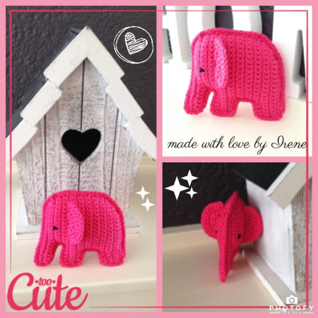 Op Pinterest vond ik een superlief klein olifantje, niet in Amigurumi-stijl, maar 2 lapjes maken en aan elkaar naaien. Het is een gratis ...