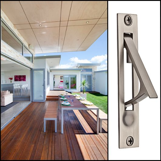 Create a serene #space. Let #Baldwin handle the rest with a pocket door pull.
