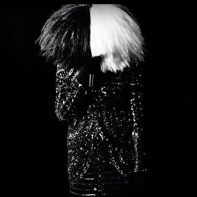 "Sia appeared on Kanye's latest song ""Wolves"" featuring Sia and Vic Mensa #sia #kanyewest #Balmain #MV #music #thisisacting #cheapthrills"