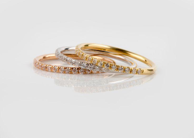 15%off SALE Diamond Gold Ring Micropave Diamond Ring 18k