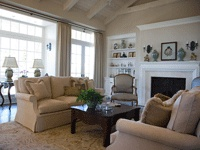 Pretty living room.  It's from an article on how living rooms aren't popular home features any more but I still love my separate living and family rooms!
