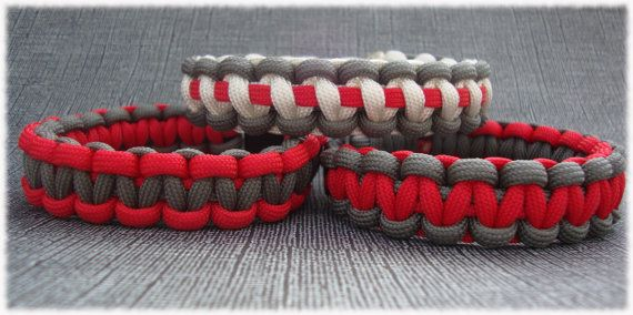 Brother- dont u know how to make these?  ill take one for christmas :) Ohio State paracord Bracelets