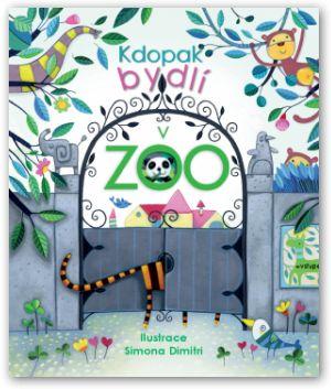 Leporelo, kniha, nejmenší děti, knížka s otevíracími okénky, zvířátka v zoo, kdo bydlí v zoo.