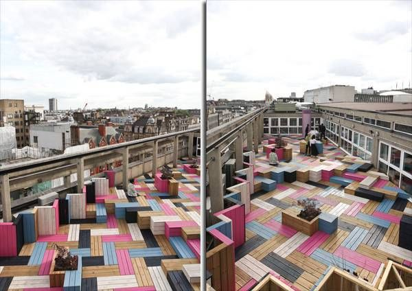 London College Gets Funky Rooftop Design
